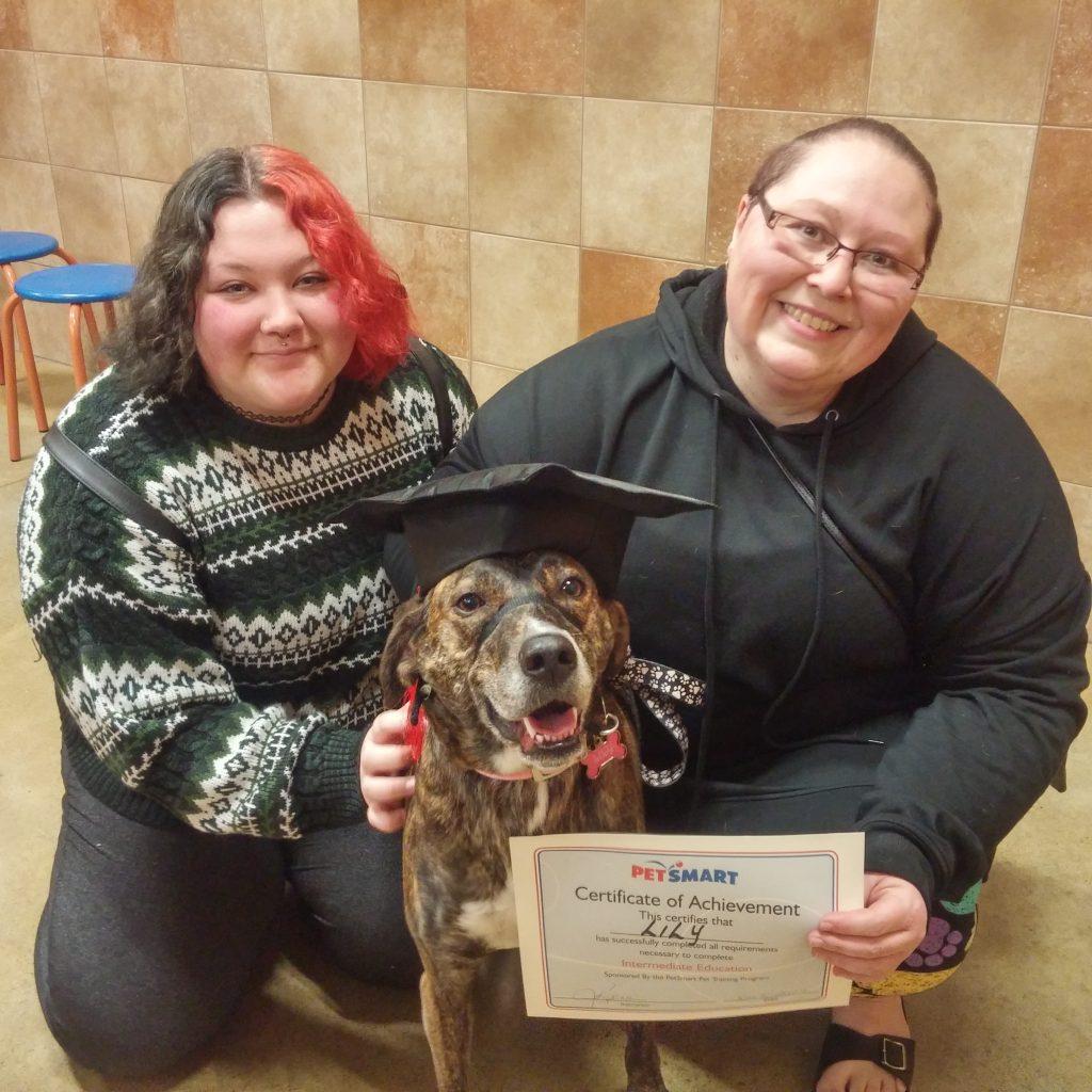 dog training graduates Lilly